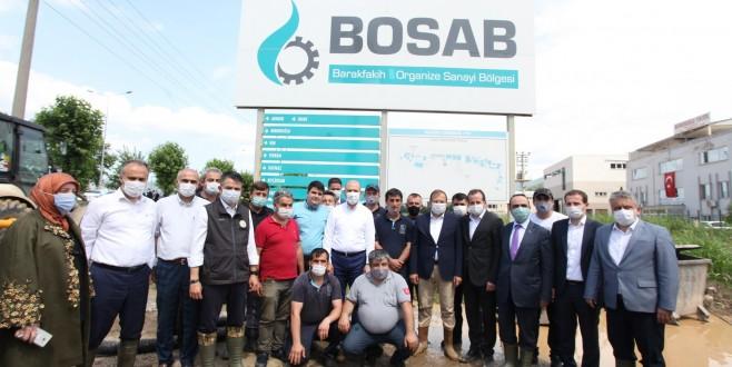 Bakanlardan BOSAB'a Geçmiş Olsun Ziyareti