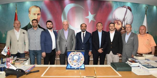 Başkan Edebali Bursaspor Yönetimini Ağırladı