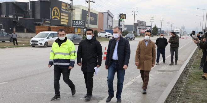 Bursa-Ankara Karayolunda 6 Km'lik Düzenleme Başladı