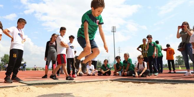 Bursa'da çocukların 'mini olimpiyat' heyecanı