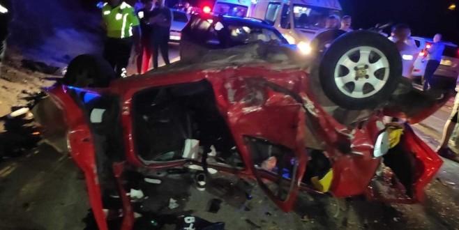 Bursa'da trafik kazası: 1 ölü 11 yaralı