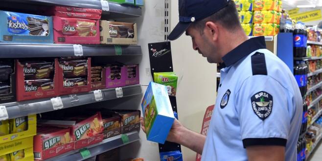 Bursa'da zabıtadan etiket denetimi