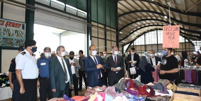 Bursa Valisi Canbolat'an İnegöl'de Pandemi Denetimi