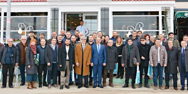Gazeteciler, dayanışma günü'nde Mudanya'da buluştu