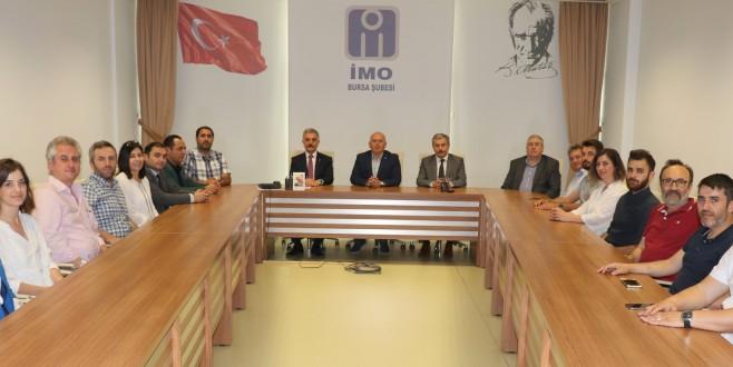 MHP heyeti İMO Bursa'yı ziyaret etti…