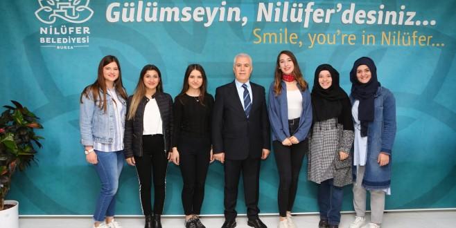 Öğrenciler Nilüfer Belediyesi'nin hizmetlerini inceledi