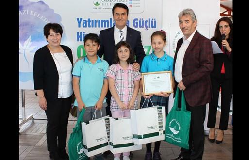 Osmangazi'de Çevreci Okullar Ödüllendirildi