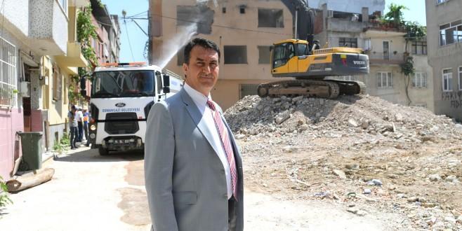 Soğanlı'da riskli alandaki 55 bina yıkıldı